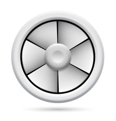 electric plastic fan on white background for vector image