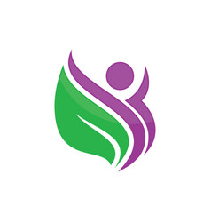 beauty green leaf spa salon logo image vector image