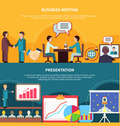 business events banners set vector image