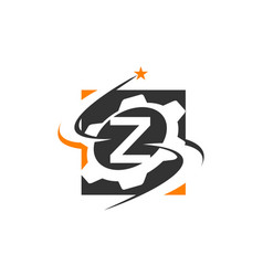 Gear solution logo letter z vector