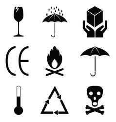 Packaging symbols set vector