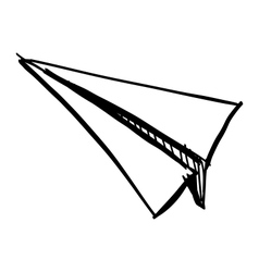 Paper plane icon isolated on white vector image