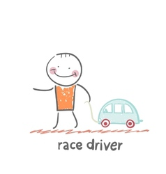 driver rides vector image vector image