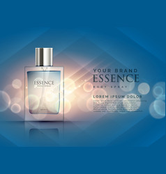 Essence perfume ads concept with transparent vector