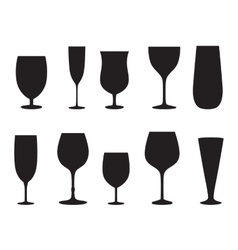 Glass set or collection vector image