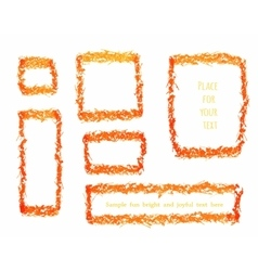 Grunge Frames Collection vector image vector image