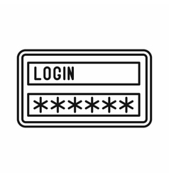 Login and password icon outline style vector image vector image