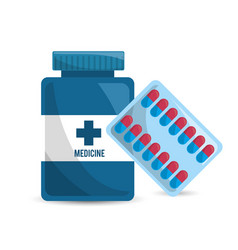 pharmaceutical drugs and medications icon vector image