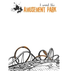 Roller Coaster on a White Background vector image vector image