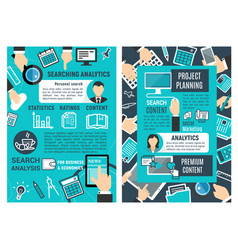 web analytic infographic design vector image vector image