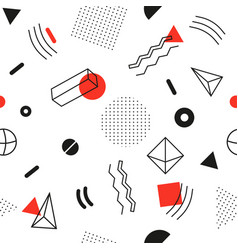seamless abstract pattern - modern material design vector image vector image