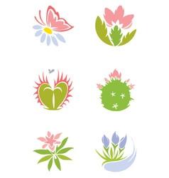 Set - flowers vector image vector image