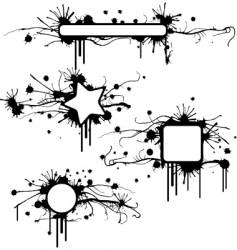 stained grunge frames vector image