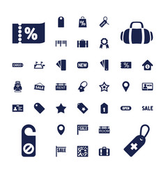 37 tag icons vector