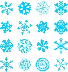 abstract snowflakes set vector image