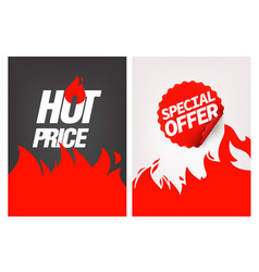 advertising banners set hot price and special offe vector image