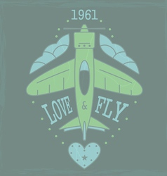 Airplane emblem4VS vector