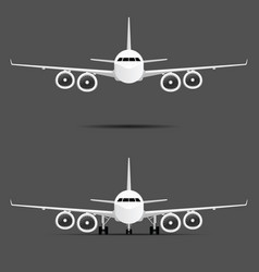 airplane with four motors set vector image