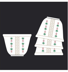 Arabic coffee cup traditional cup traditional vector