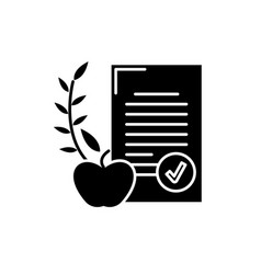 balanced diet black icon sign on isolated vector image