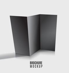 black blank tri-fold brochure design isolated vector image