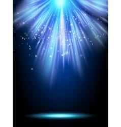 Blue magic light template EPS 10 vector image