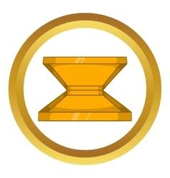 Box for pizza icon vector
