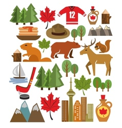 Canada icon set vector