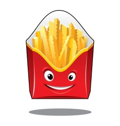Cartoon French fries in a carton pack vector image