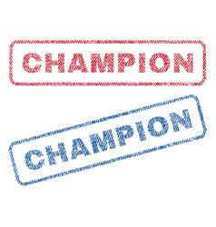 Champion textile stamps vector