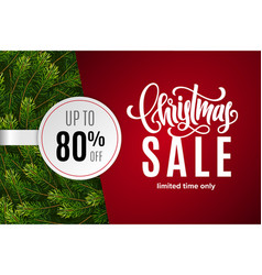christmas holiday sale 80 percent off vector image