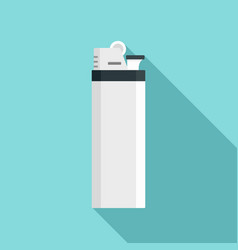 Cigarette lighter icon flat style vector