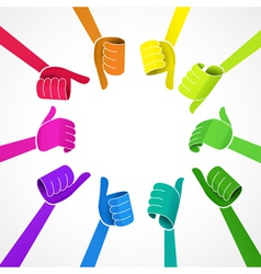 Color hands vector image