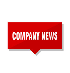 Company news red tag vector