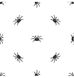 crab pattern seamless black vector image