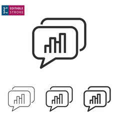 data analysis line icon on white background vector image