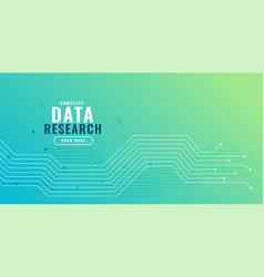 data research background with circuit diagram vector image