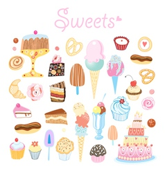 Different sweets vector