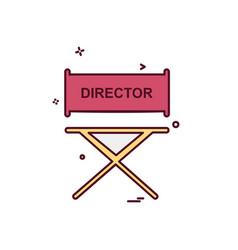 director icon design vector image