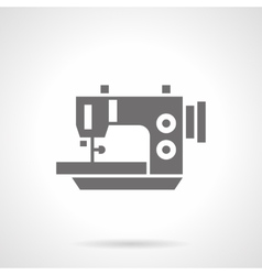 Electric sewing machine black glyph icon vector