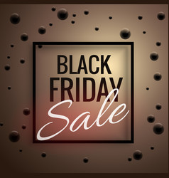 elegant black friday sale poster template with vector image