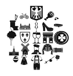 excellent wine icons set simple style vector image