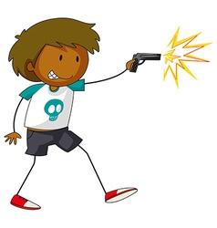 Firegun vector image