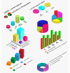 flat 3d isometric infographic isometric 3d busine vector image