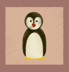 flat shading style icon penguin vector image
