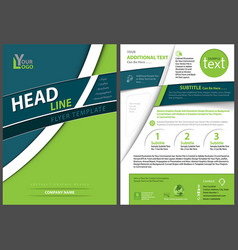 flyer template with curved stripes vector image
