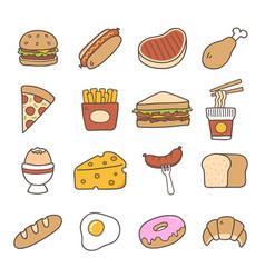 food doodle icon vector image