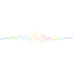 Futuristic background with dynamic waves vector