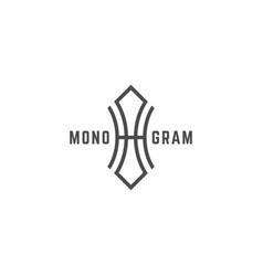 Geometric monogram ho vector