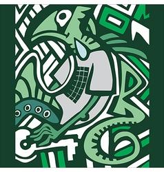 graffiti sketch with dragon vector image